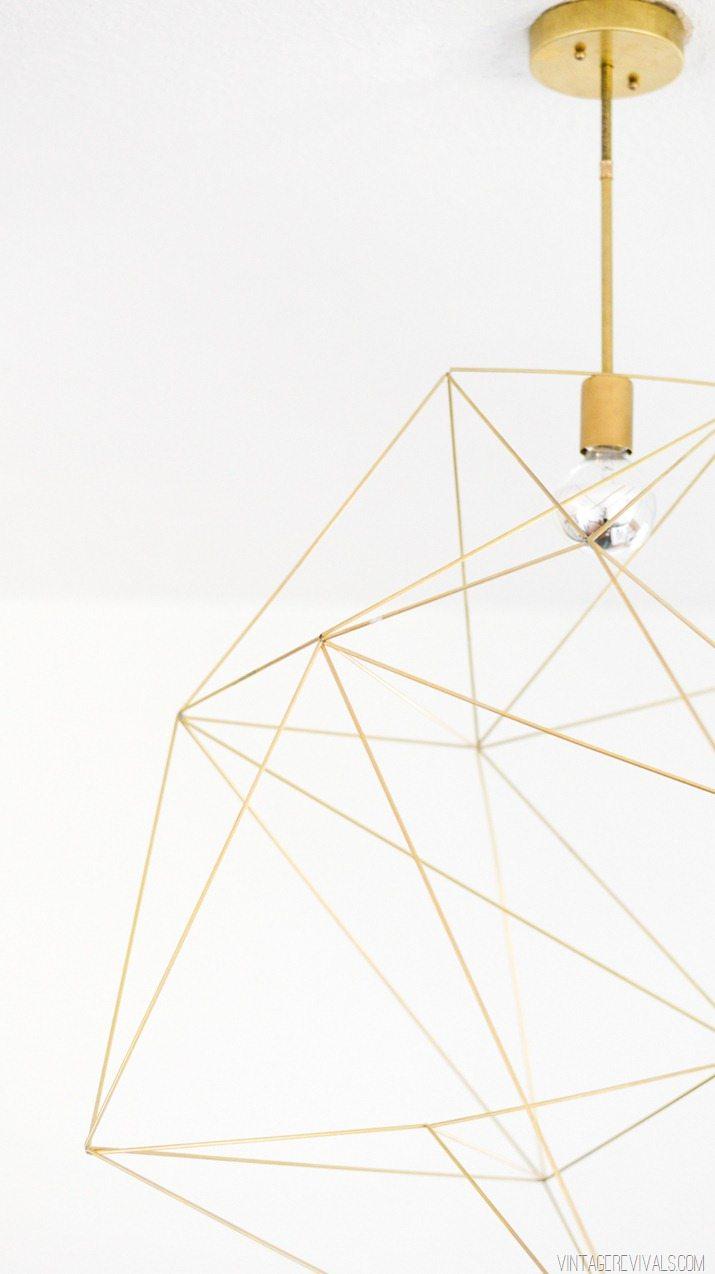 Giant Geometric Brass Light