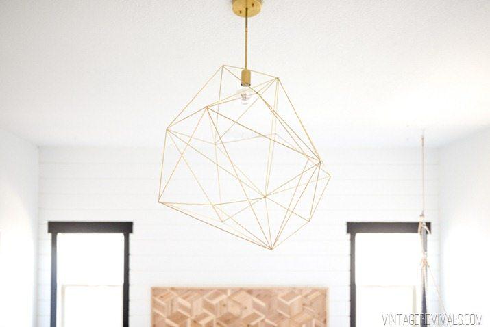 Giant Geometric Brass Light-3