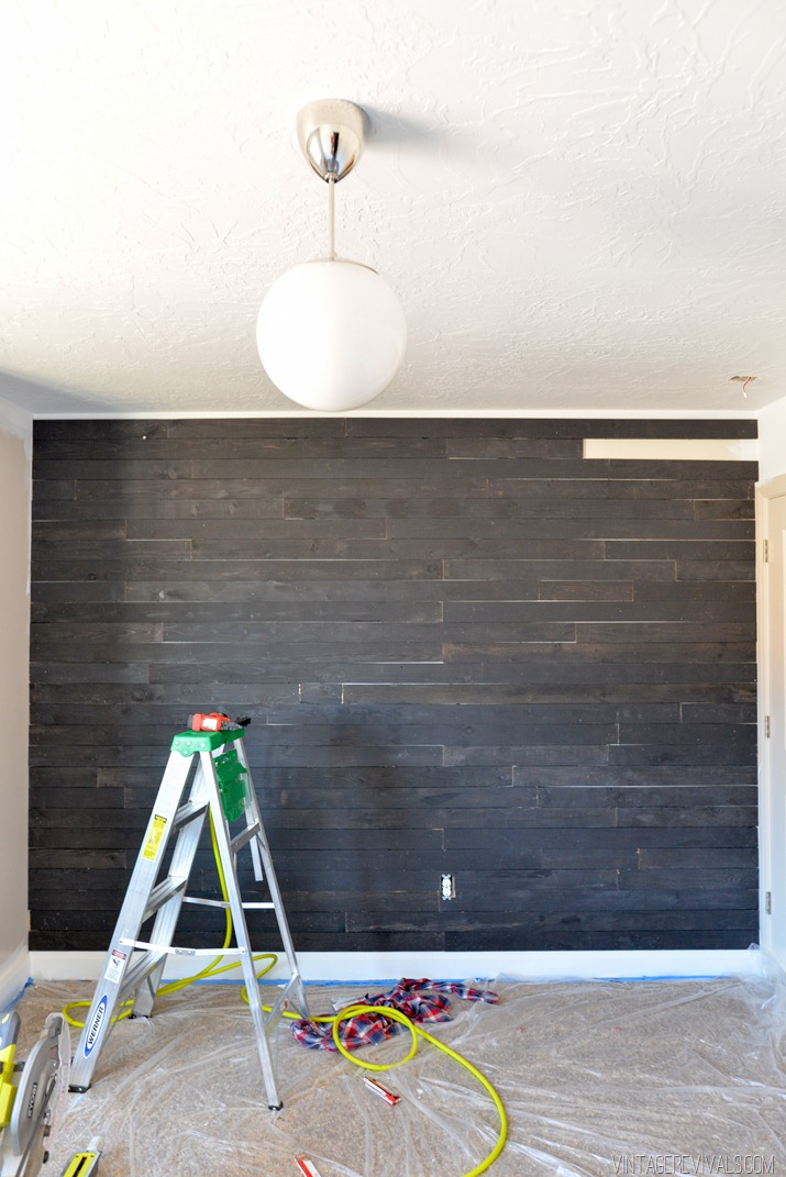 Black Shiplap Plank Wall
