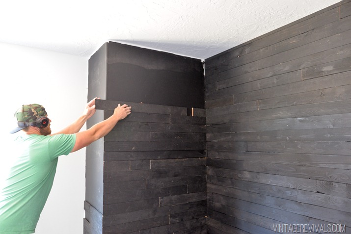 Black Shiplap Plank Wall-4