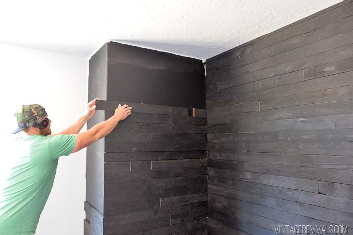 Black Shiplap Plank Wall-4