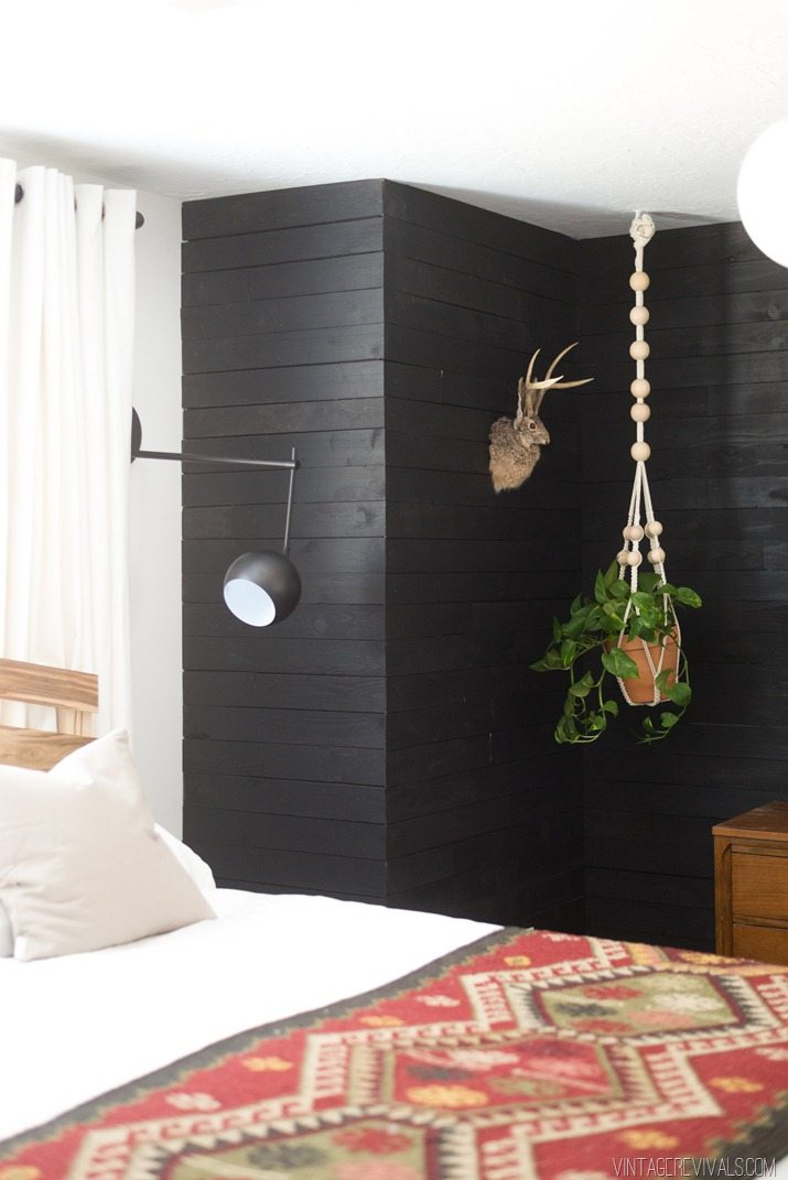 Black Painted Walls Bedroom