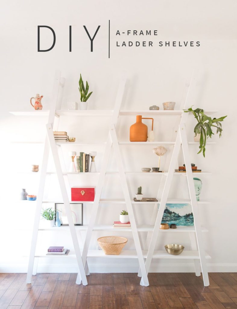 DIY A-Frame Ladder Shelves • Vintage Revivals