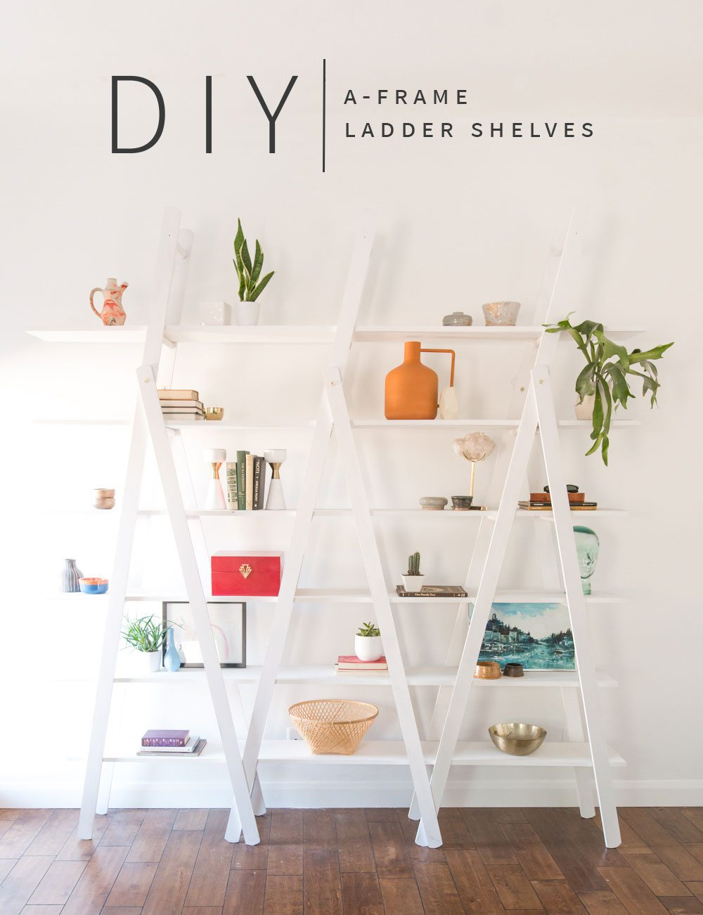 Diy Ladder Shelves Vintage Revivals