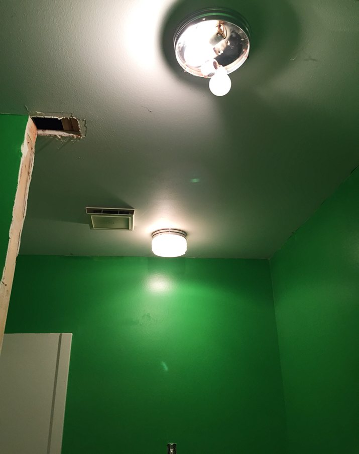 The Great Green Bathroom & Being OK With Half Finished Projects ...