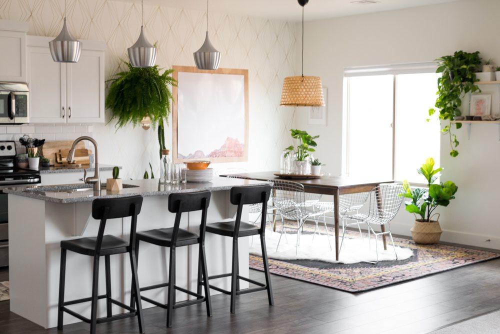 Aspyn 39 s dining room makeover reveal vintage revivals for Home depot sister companies