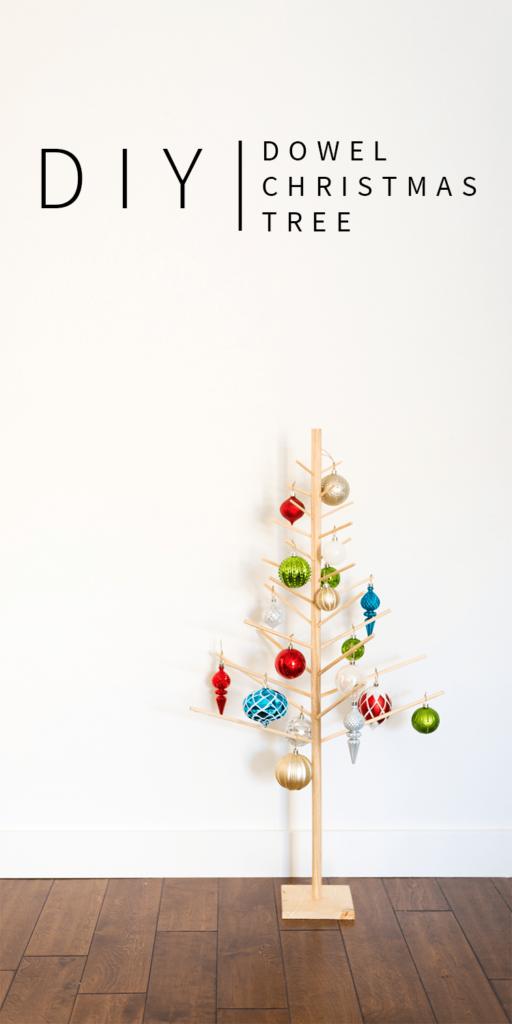 diy wooden dowel christmas tree vintagerevivals com - Diy Wooden Christmas Tree