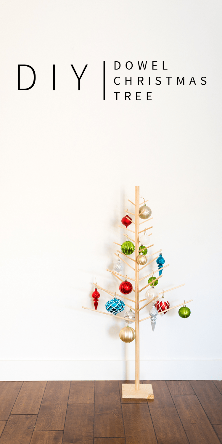 DIY Modern Christmas Tree made with Wooden Dowels- EASY DIY!!
