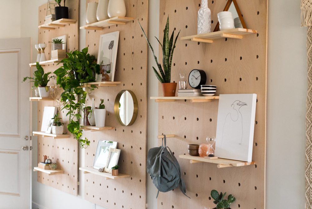 Giant Wooden Pegboard DIY