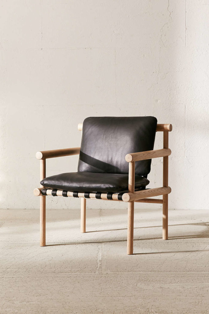 DIY Urban Outfitters Inspired Wooden Dowel   Leather Chair. DIY Urban Outfitters Inspired Wooden Dowel Chair