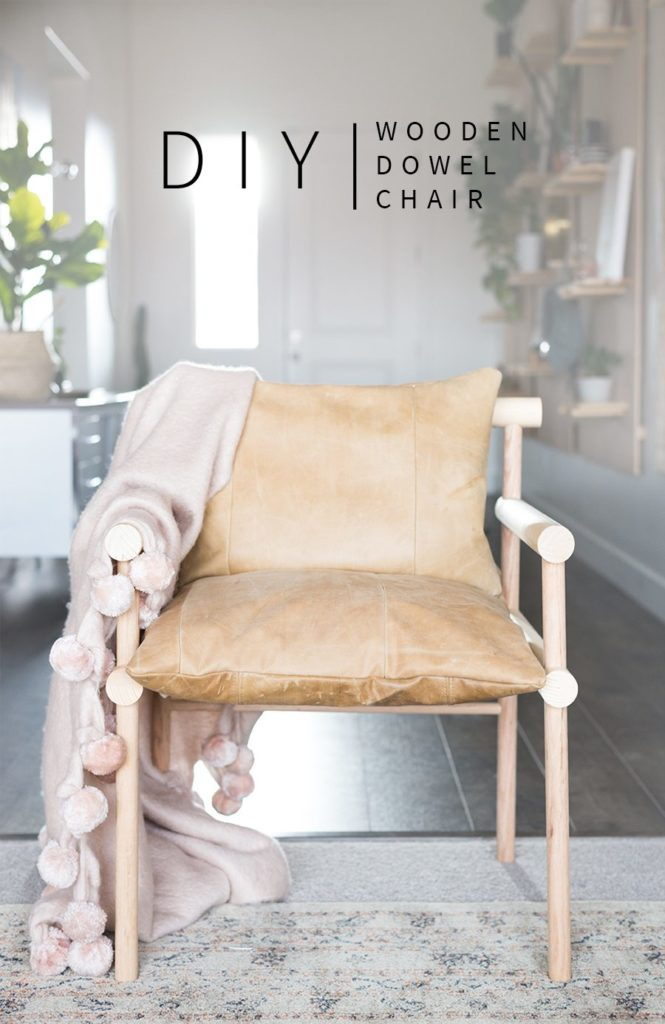 Diy Urban Outfitters Inspired Wooden Dowel Chair
