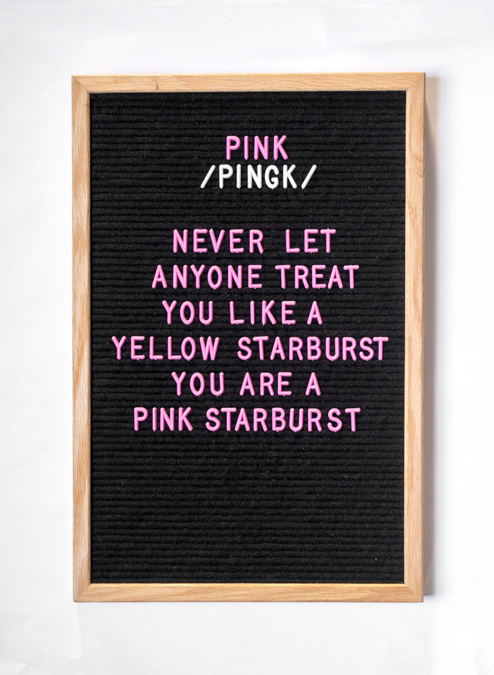 PINK Letter Board Letters!!