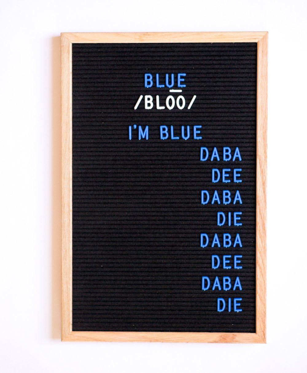 BLUE Letter Board Letters!!