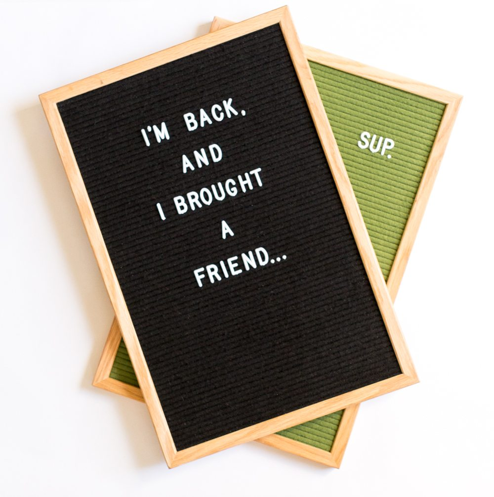 Black and Green Letter Boards IN STOCK NOW!!