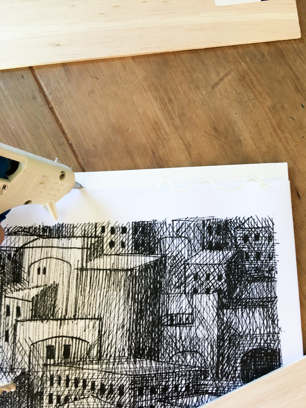 Gluing Balsa Wood To Print