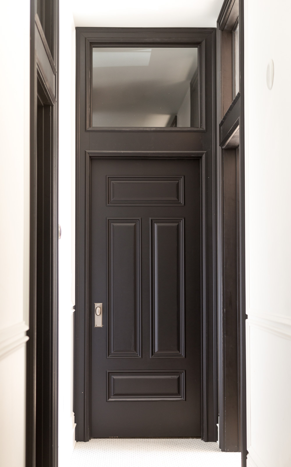 Black Interior Door with Transom and Heavy Moulding & The Perfectly Historic Interior Doors of My Dreams u2022 Vintage Revivals