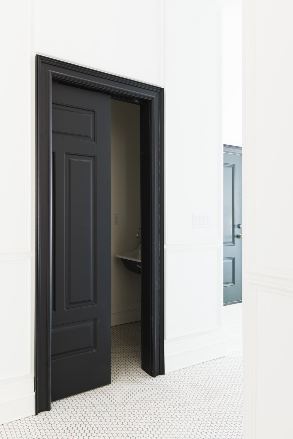 Black Interior Pocket Door