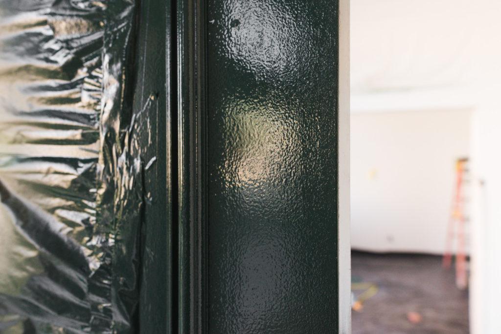 How To Paint A Front Door The Best Front Door Paint Vintage Revivals - Painting-an-exterior-door