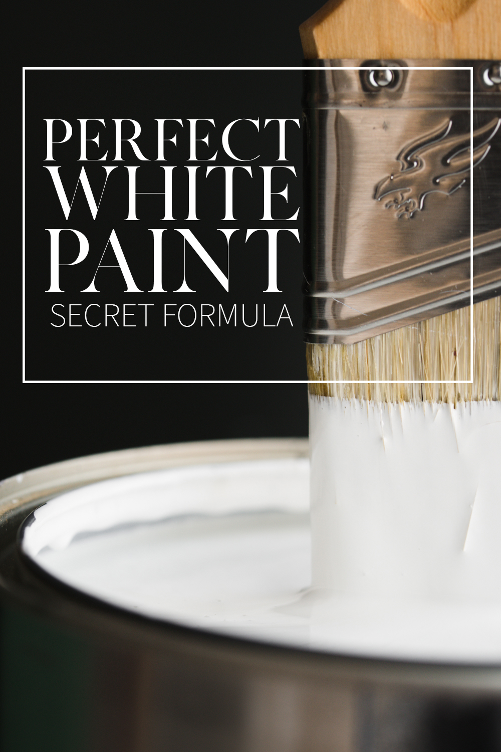 This is the BEST white paint color! It's a custom mix that never looks blueish, or greenish, or yellowish. Its bright without being blinding. It is hands down the perfect white paint!
