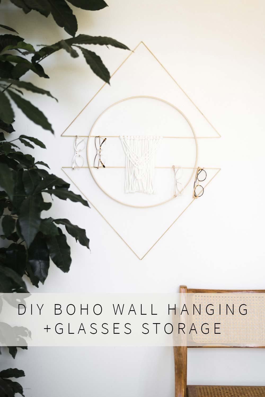 Boho Macrame Wall Hanging Secret Storage Vintage Revivals