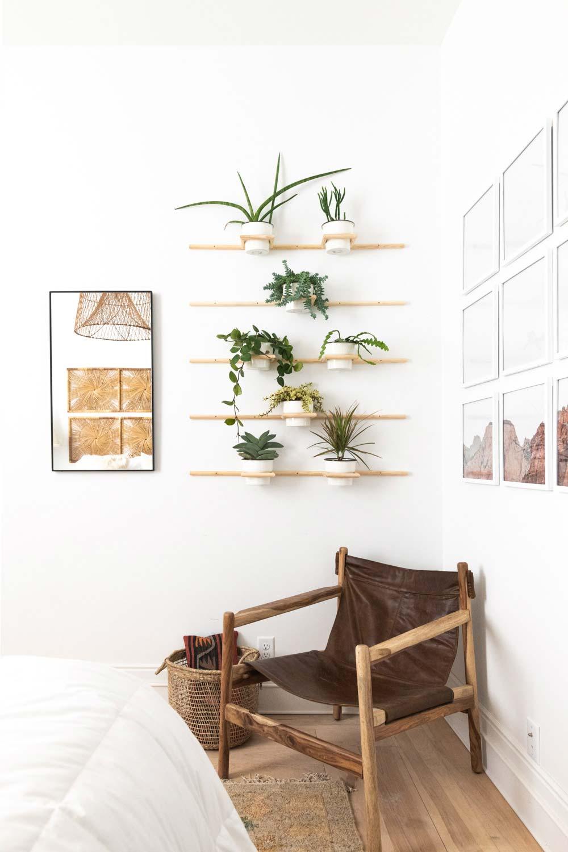 Diy Living Wall Wooden Dowel Plant Holders Vintage Revivals