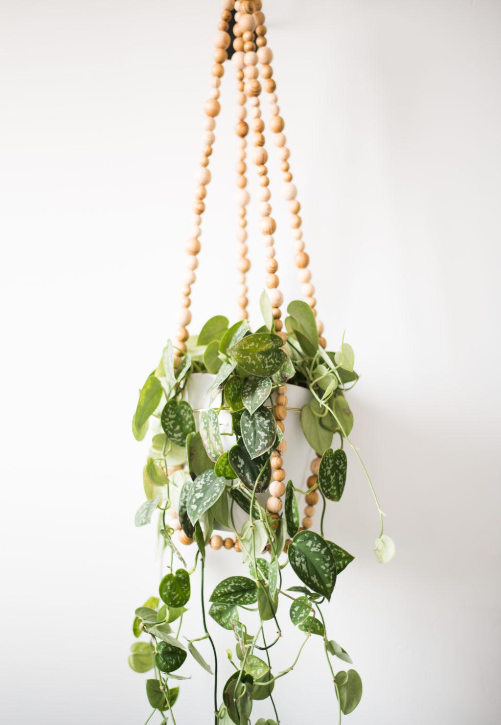 Diy Beaded Garland Hanging Planter Vintage Revivals