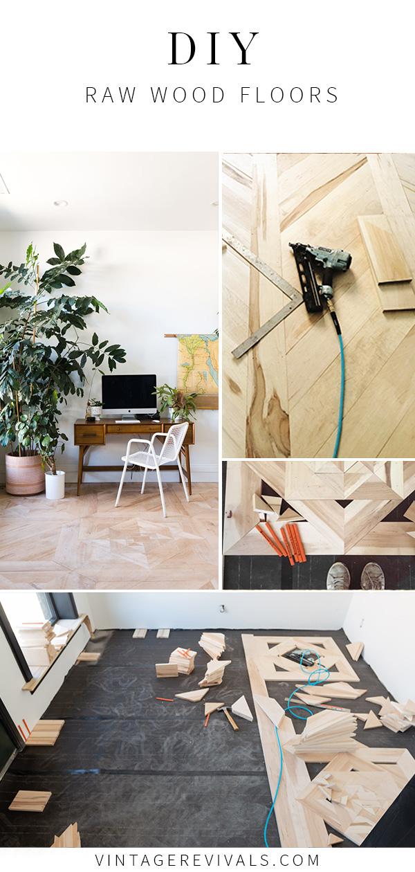 Diy Raw Hardwood Floors Vintage Revivals