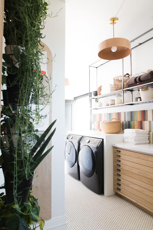 Rainbow Tile Laundry Room Renovation Reveal Vintage Revivals